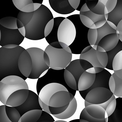 108 Dotcentric Black and White