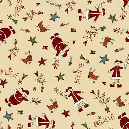 Believe Cream Tossed Santa's