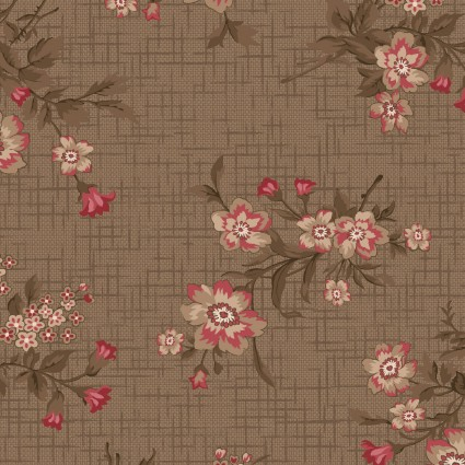 Tickled Pink Khaki Vintage Floral Toss