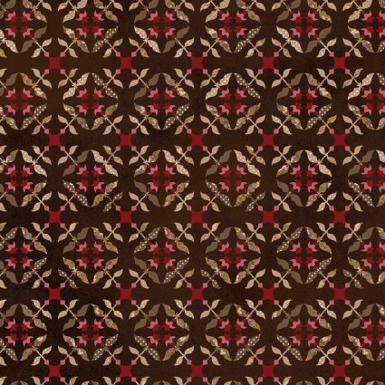 Tickled Pink Brown Tile Flowers