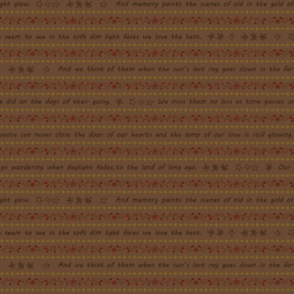 HG-Q-2314-35 Cocoa Home is Best Word Stripe