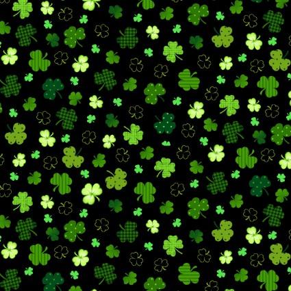 Black Irish Folk Scattered Shamrock *SALE*