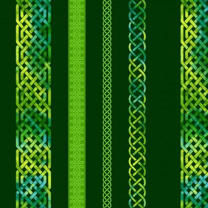 Emerald Celtic Border Stripe