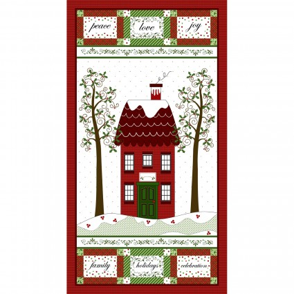 Holly Hill Christmas Panel