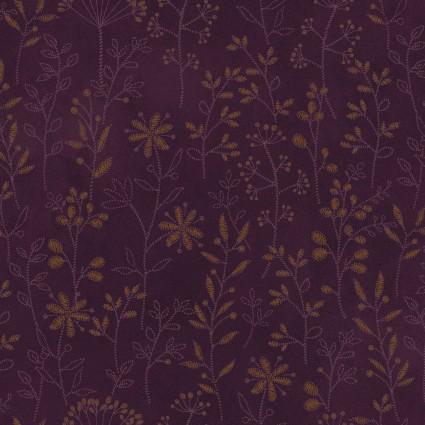 Plant Kindness Dark Purple Print
