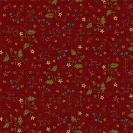 2561-88 Farm to Market Mini Floral Red