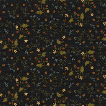 2561-99 Farm to Market Mini Floral Black