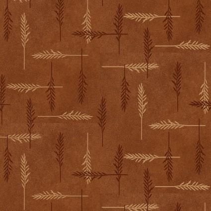 Folk Art Flannels IV Feathers Rust by Janet Nesbitt/One S1ster