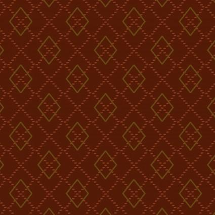 Folk Art Flannels IV Argyle Rust by Janet Nesbitt/One S1ster