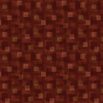 Scrap Happy Square Textile Rust