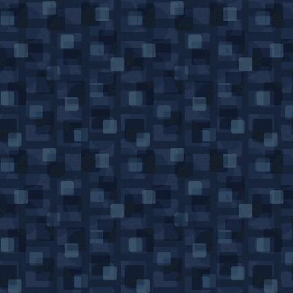 Scrap Happy Square Textile Blue
