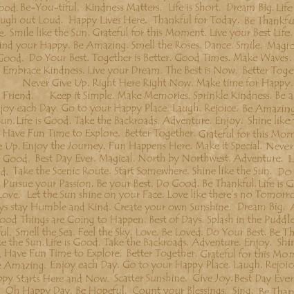 Linen Closet II Happy Text on Toast