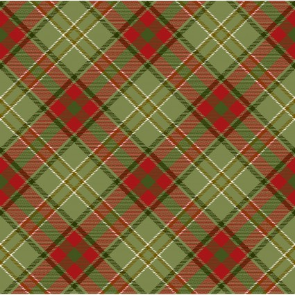 HENRY GLASS MOOSE LODGE GREEN AND RED PLAID 6616 66