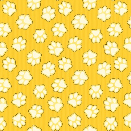 Dog and Suds - Yellow Paw Print