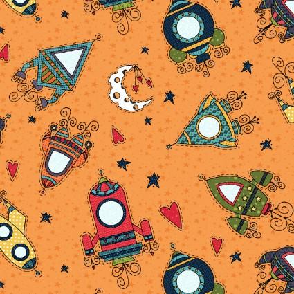 Moon & Back on Orange