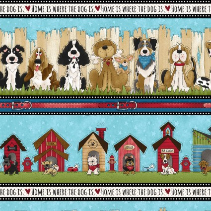 Home Is Where The Dog Is - Border Print