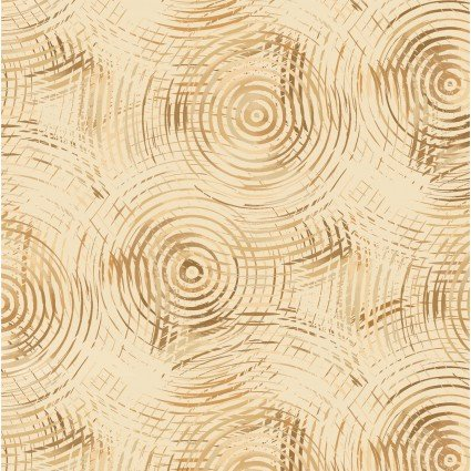 Circle Play 108 Wide Fabric Lt. Brown - Henry Glass