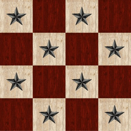 Plain & Simple - Red Stars - 1 yd cuts