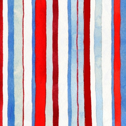 Star Spangled Summer - Watercolor Stripe