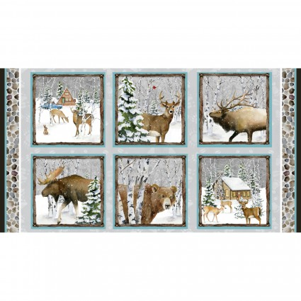 Snowy Woods Six Square Panel