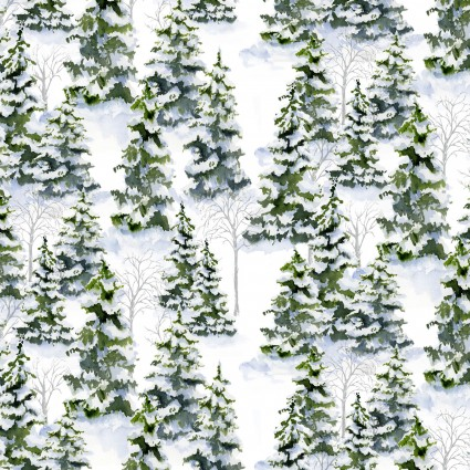 Snowy Woods- Pine Trees