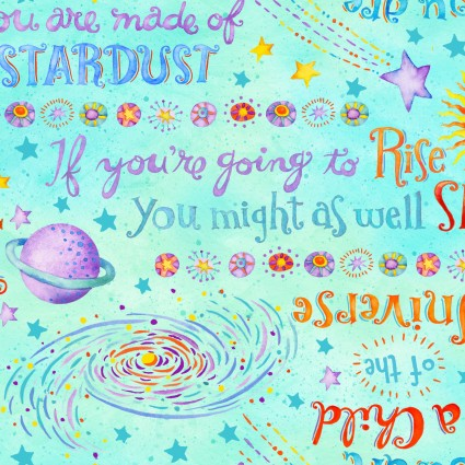 Stay Wild Moon Child - Words Aqua 9310-11