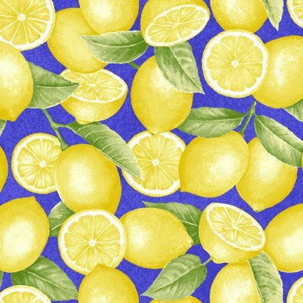 Just Lemons on Blue