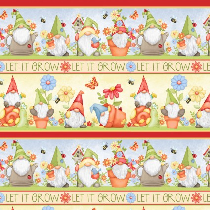 Gnome is Where Your Garden Grows Novelty Stripe