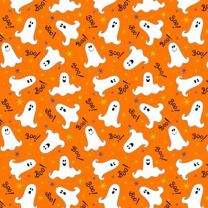 Here We Glow Orange Tossed Ghost HEG9541G-30