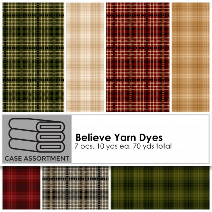 Believe Yarn Dyes- Mini Glen Plaid