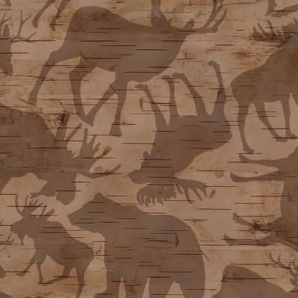 Woodland Haven Flannel - Animal Silhouette - Brown