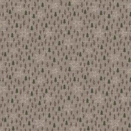 Folk Art Flannels III Tree Texture Gray