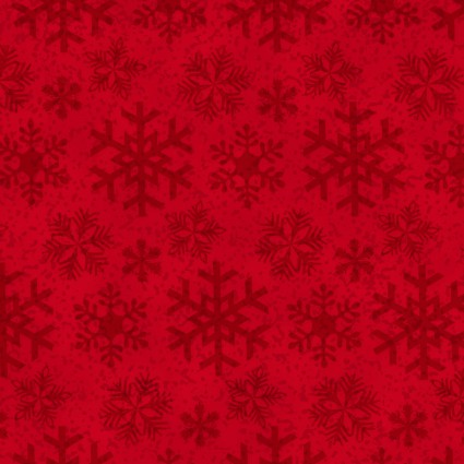 Frosty Friends Flannel - Red with Snowflakes