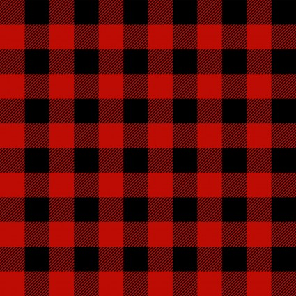 Flannel Gnomies Black/Red Check