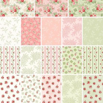 Violet's Garden - Fat Quarter Bundle - by Mary Jane Carey for Henry Glass - Includes 18 Fat Quarters