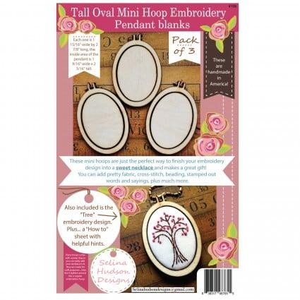 Tall Oval Mini Hoop