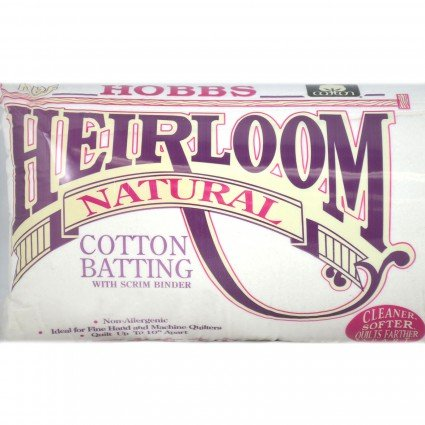 Heirloom Natural Cotton Batting w/Scrim 96 Wide 30 yd Roll