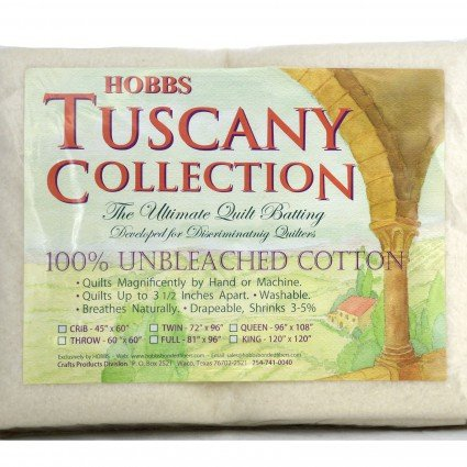 Tuscany 100% Unbleached Cotton 96 Wide 30 yd Roll