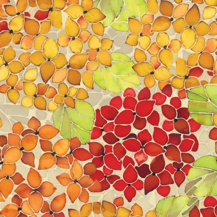 Ajisai - Orange/gold blossoms