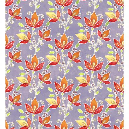 Ajisai - Purple w/orange flowers