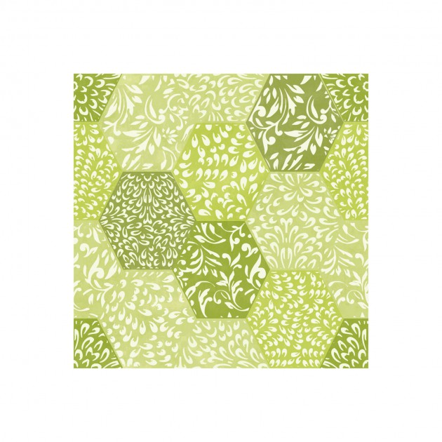 Ajisai - green varigated hexagons