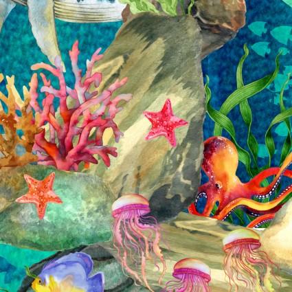 Calypso Sea Life in Teal