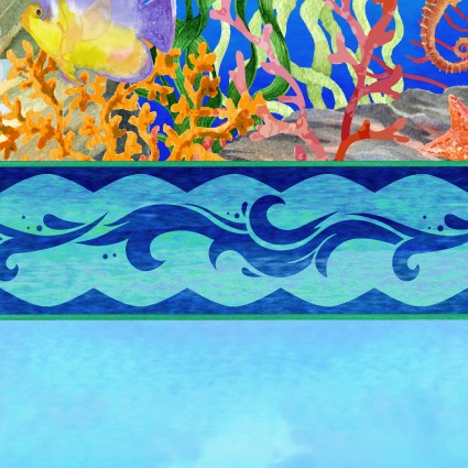 Calypso 2CAL 1 Blue Border Stripe
