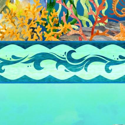 ITB- Calypso Teal Border Stripe