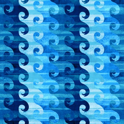 In the Beginning - Calypso Blue Geometric Waves