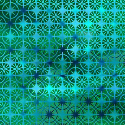 In the Beginning - Calypso Emerald Geometric