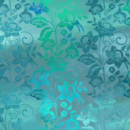 Diaphanous Teal Mist Enchanted Vines