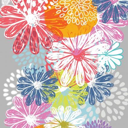 Doodle Blossoms Flower Border
