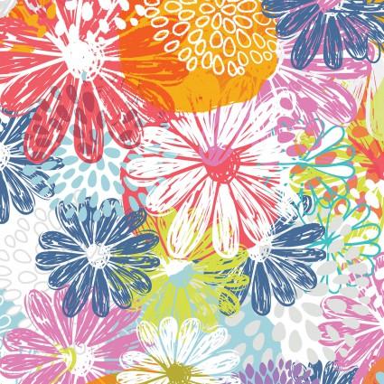 Doodle Blossoms - Flower Garden - Multi 2db-1