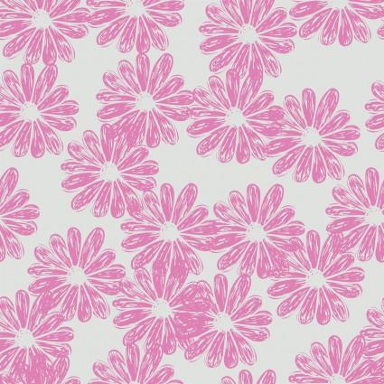 Doodle Blossoms - Daisies - Lavender 7db-1